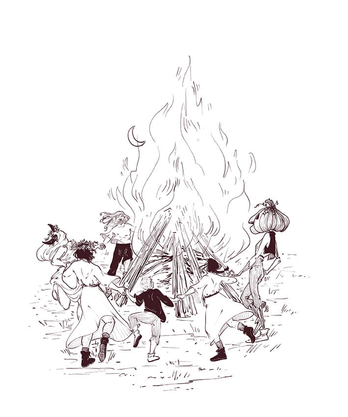 5 ancient rituals lineart